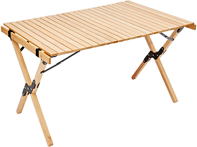 CAMPZ Beech Wood Roll-Out Table 90x60x53cm, brown